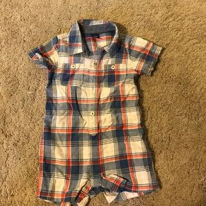 Gap button down romper